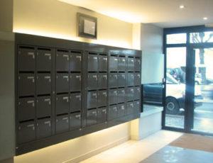 Tableau de boite aux lettres pour une entrée d'immeuble